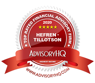 Hefren-Tillottson was awarded top rated financial advisory firm by AdvisoryHQ in 2020